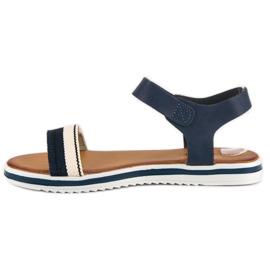 Top Shoes Marynarskie sandały damskie niebieskie 3