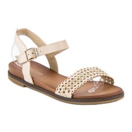 Licean Eleganckie beżowe sandały beżowy 2