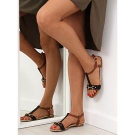 Sandałki na płaskiej podeszwie czarne 9871 Black 6