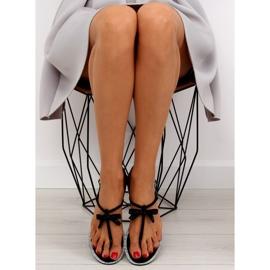 Sandałki damskie japonki czarne 17715 Negro 3
