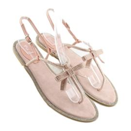 Sandałki damskie japonki różowe 17715 Rosa 2