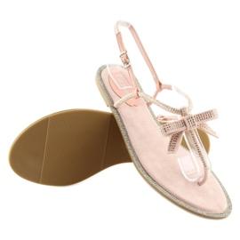 Sandałki damskie japonki różowe 17715 Rosa 5