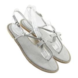Sandałki damskie japonki szare 17715 Grigio 2