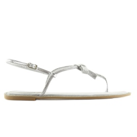 Sandałki damskie japonki szare 17715 Grigio 4