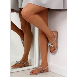 Sandałki damskie japonki szare 17715 Grigio 6