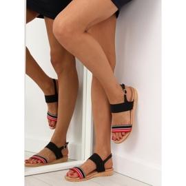 Sandałki damskie czarne J1024-A4 black 5