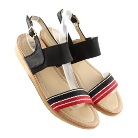 Sandałki damskie czarne J1024-A4 black 6