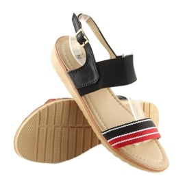 Sandałki damskie czarne J1024-A4 black 1