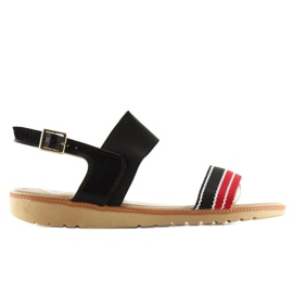 Sandałki damskie czarne J1024-A4 black 3