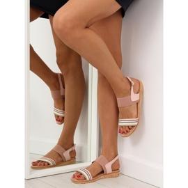 Sandałki damskie różowe J1024-A4 pink 5