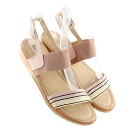 Sandałki damskie różowe J1024-A4 pink 6