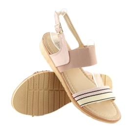 Sandałki damskie różowe J1024-A4 pink 1