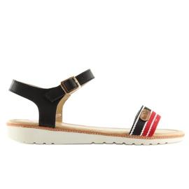 Sandałki na płaskiej podeszwie czarne J1024-A5 Black 6