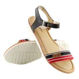 Sandałki na płaskiej podeszwie czarne J1024-A5 Black 3
