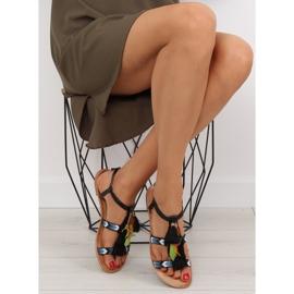 Sandałki w stylu boho czarne LQ-2662 black 5