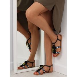 Sandałki w stylu boho czarne LQ-2662 black 6
