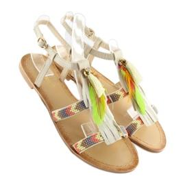 Sandałki w stylu boho beżowe LQ-2662 Beige beżowy 2