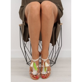 Sandałki w stylu boho beżowe LQ-2662 Beige beżowy 5