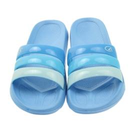 American Club American klapki damskie basenowe niebieskie 3