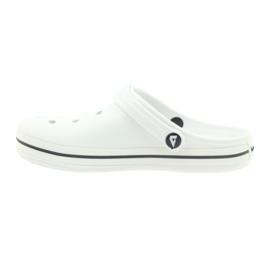 American Club Kroksy clogsy klapki sandały białe 2
