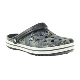 American Club Kroksy clogsy klapki sandały moro czarne szare zielone 1