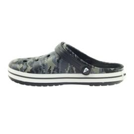 American Club Kroksy clogsy klapki sandały moro czarne szare zielone 2