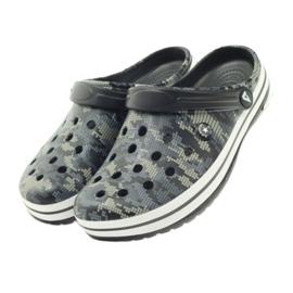 American Club Kroksy clogsy klapki sandały moro czarne szare zielone 4