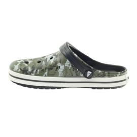 American Club Kroksy clogsy klapki sandały moro białe czarne zielone 2