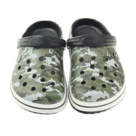 American Club Kroksy clogsy klapki sandały moro białe czarne zielone 3