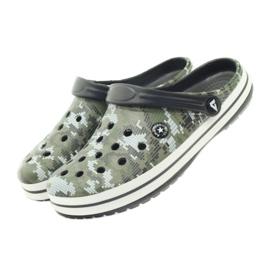 American Club Kroksy clogsy klapki sandały moro białe czarne zielone 4