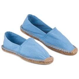 Błękitne Espadryle niebieskie 3