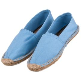 Błękitne Espadryle niebieskie 4