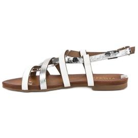 Białe sandały vinceza szare 2