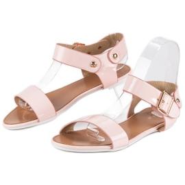 Różowe sandały płaskie vices 2