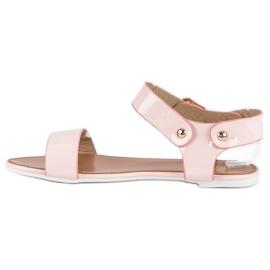 Różowe sandały płaskie vices 1