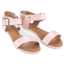Różowe sandały płaskie vices 3