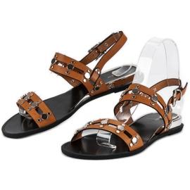 Brązowe sandały vices 2