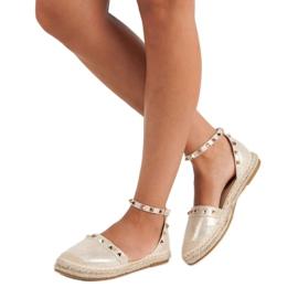 Fama Złote sandały espadryle złoty 2