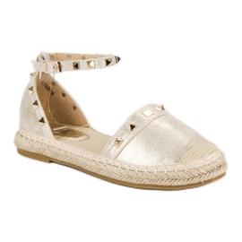 Fama Złote sandały espadryle złoty 4