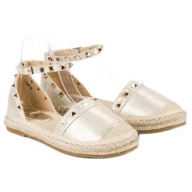 Fama Złote sandały espadryle złoty 6