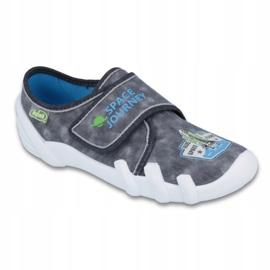 Befado obuwie dziecięce 273Y238 niebieskie szare 1