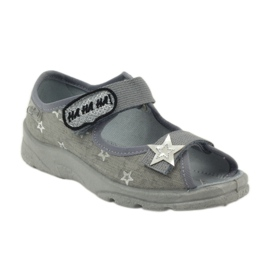 Sandałki dziewczęce Befado 969y122 szary szare 1