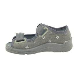 Sandałki dziewczęce Befado 969y122 szary szare 2