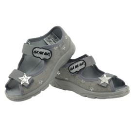 Sandałki dziewczęce Befado 969y122 szary szare 3