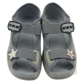 Sandałki dziewczęce Befado 969y122 szary szare 4