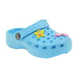 American Club Crocsy klapki kroksy niebieskie American 1