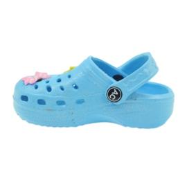American Club Crocsy klapki kroksy niebieskie American 2
