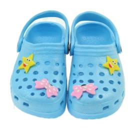 American Club Crocsy klapki kroksy niebieskie American 3