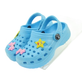American Club Crocsy klapki kroksy niebieskie American 4