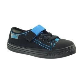 Kapcie trampki czarne Befado 429x007 niebieskie 1